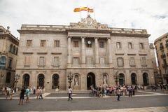 City Hall of Barcelona, Spain Stock Photos