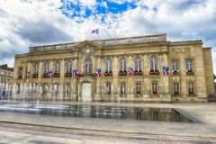 City hall in Beauvais. Picardy; France stock photography