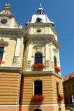 City Hall in Brasov (Kronstadt), Transilvania, Romania Stock Images