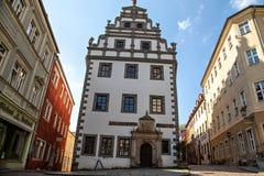The city hall, Brauhaus of Meissen Stock Image