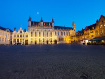 City Hall in Bruges At Night Stock Photography