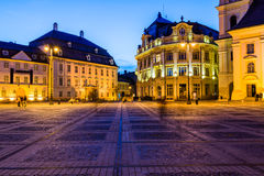 City hall and Brukenthal palace in Sibiu Royalty Free Stock Photos