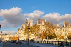 City Hall building Hotel de Ville in Paris Stock Images