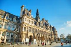 City Hall building Hotel de Ville in Paris Stock Photography