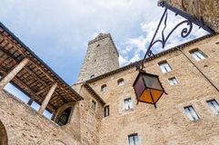 City-hall building in San Gimignano, Italy Royalty Free Stock Images