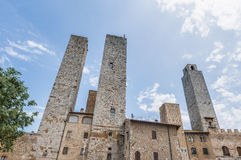 City-hall building in San Gimignano, Italy Stock Photography