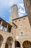 City-hall building in San Gimignano, Italy Stock Images