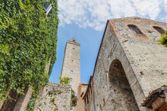 City-hall building in San Gimignano, Italy Stock Photo
