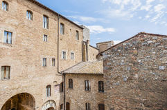 City-hall building in San Gimignano, Italy Royalty Free Stock Photo