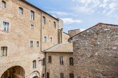 City-hall building in San Gimignano, Italy Royalty Free Stock Photo
