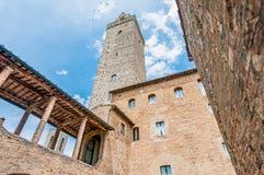 City-hall building in San Gimignano, Italy Stock Photography