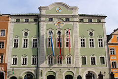 City hall building of town Burghausen Royalty Free Stock Photography