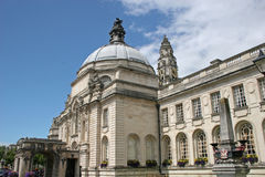 City Hall Cardiff. Exterior of city hall, Cardiff Royalty Free Stock Images