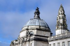 City Hall in Cardiff, Wales, UK Stock Photography
