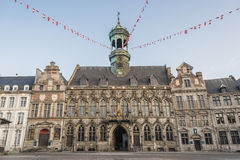 City Hall on the central square in Mons, Belgium. Stock Image