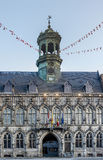 City Hall on the central square in Mons, Belgium. stock photos