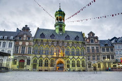City Hall on the central square in Mons, Belgium. royalty free stock photo