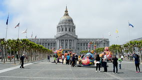 City Hall, Cherry Blossom Festival 2015, San Francisco, USA, stock video footage