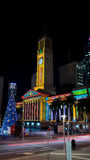 City Hall Christmas. A Christmas lit City Hall building Royalty Free Stock Photo