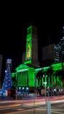 City Hall Christmas. A Christmas lit city hall building Royalty Free Stock Images