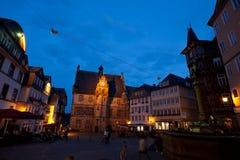 City Hall in Marburg at night Stock Photo