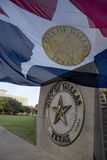 City hall and city flag in Dallas. City hall  and city flag in Dallas ,TX USA Stock Photos