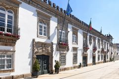 City hall of the city of Viana do Castelo in Portugal Stock Photo