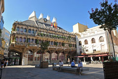 City Hall of Ciudad Real, Spain. Modern building of the City Hall located in the Main Square of Ciudad Real, Castilla la Mancha, Spain Royalty Free Stock Image