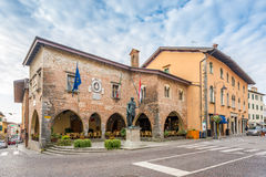 City hall in Cividale del Friuli stock images