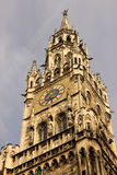 City hall Clock tower. Munich . Germany Royalty Free Stock Photos