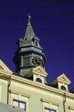 City Hall clock tower Provence town Stock Photos