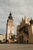 City Hall and the Cloth Hall on the Market Square. Krakow, Polan Royalty Free Stock Photos