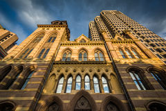 City Hall and the Connecticut Financial Center, in New Haven, Co Stock Image