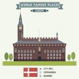 City Hall. Copenhagen Royalty Free Stock Images