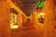 City hall corridor night scene Royalty Free Stock Photo