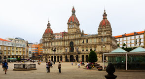 City hall of A Coruna. Galicia Royalty Free Stock Photos