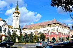 City Hall  and Culture Palace in the town Targu-Mures, Romania Stock Image