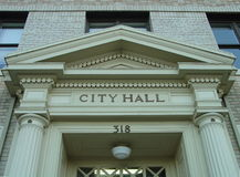 City hall door header Royalty Free Stock Photography