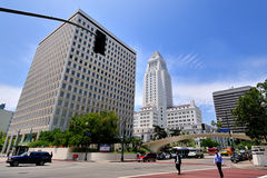 City Hall, Downtown Los Angeles Stock Photo