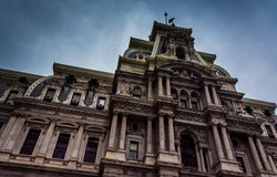 City Hall in downtown Philadelphia, Pennsylvania. Royalty Free Stock Images