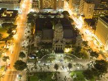 City Hall Durban. A night aerial shot of the City Hall in Durban, South Africa Stock Images