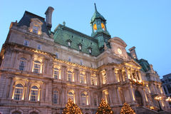 City Hall at dusk, Monteal, Canada Stock Photography
