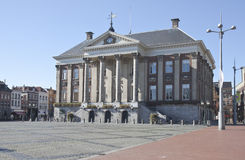City Hall in dutch city of Groningen. The Dutch Groningen City Hall, situated on the Grote Markt, is the seat of government in Groningen. The design of the Royalty Free Stock Images