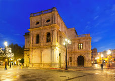 City hall in early morning at Seville Royalty Free Stock Photos