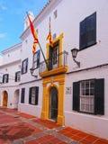City Hall in Es Mercadal, Minorca Stock Photos