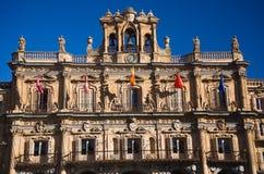 City hall facade. City hall�s  facade of the salamanca (spain Stock Photos