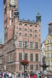 City hall and the fountain of neptune gdansk poland europe Royalty Free Stock Photos