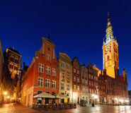 City hall of Gdansk at evening. Poland Stock Photos