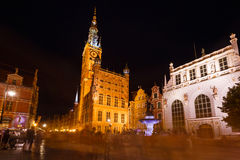 City Hall of Gdansk during the holiday fair Stock Image