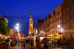 City Hall of Gdansk during the holiday fair Royalty Free Stock Photography